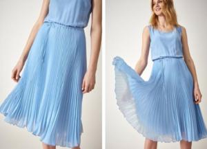 Sukienka z plisowanym dołem – jak w niej dobrze wyglądać?